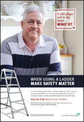 Ladder safety matters poster