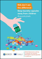 Laundry detergent capsules - Safety poster