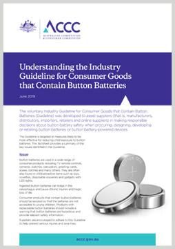 Understanding the Industry Guideline for Consumer Goods that Contain Button Batteries