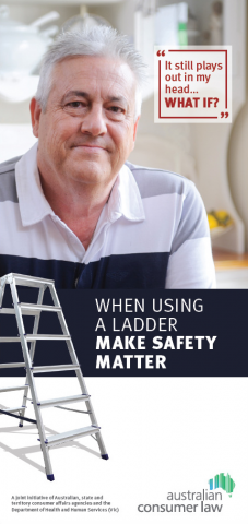 When using a ladder make safety matter